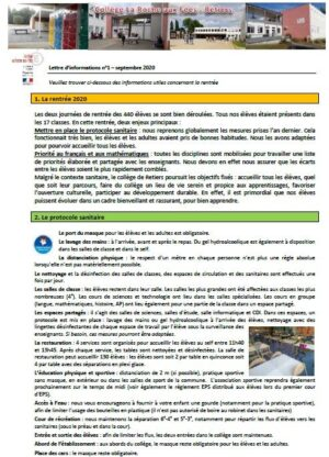 lettre informations